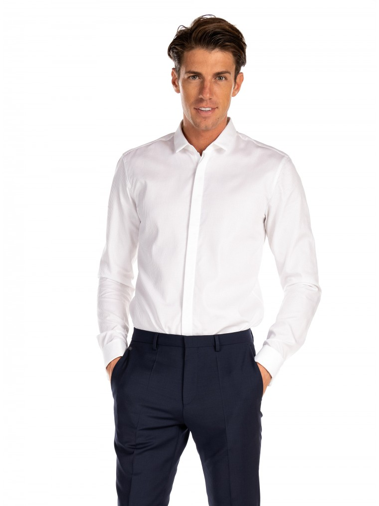 Hugo Shirt Ejinar-White