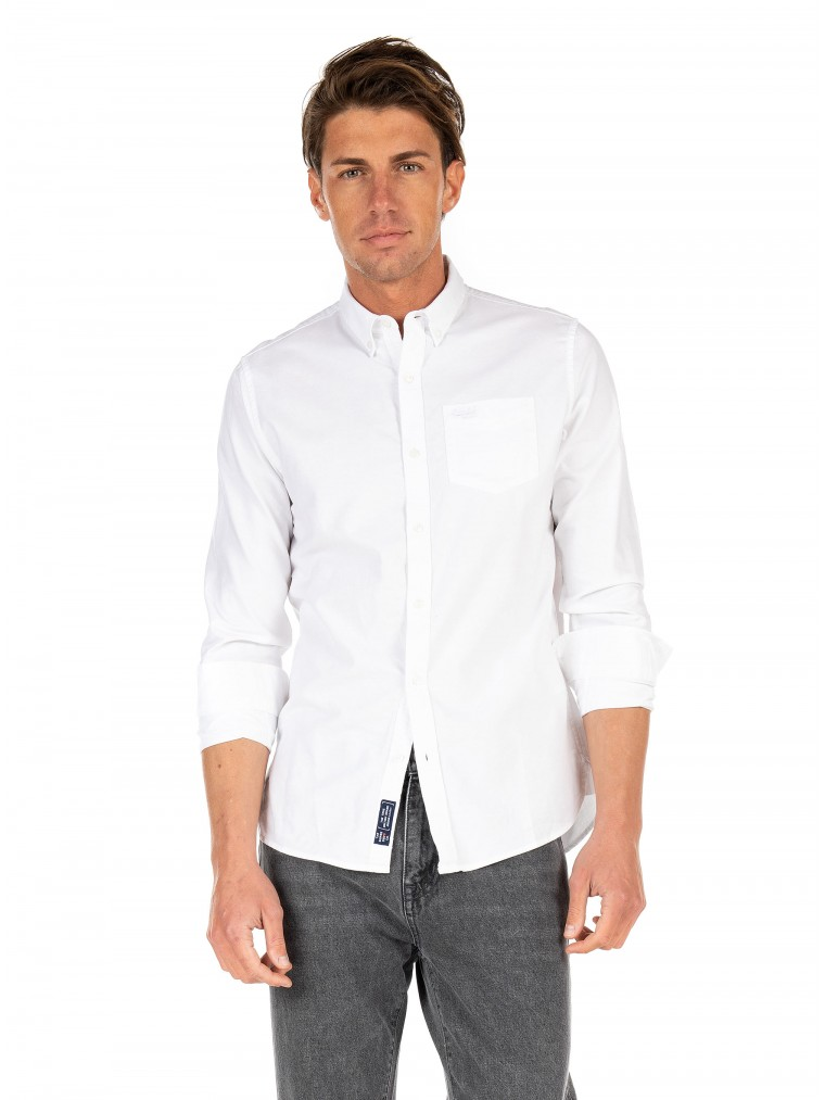 Superdry Classic University Oxford Shirt-White