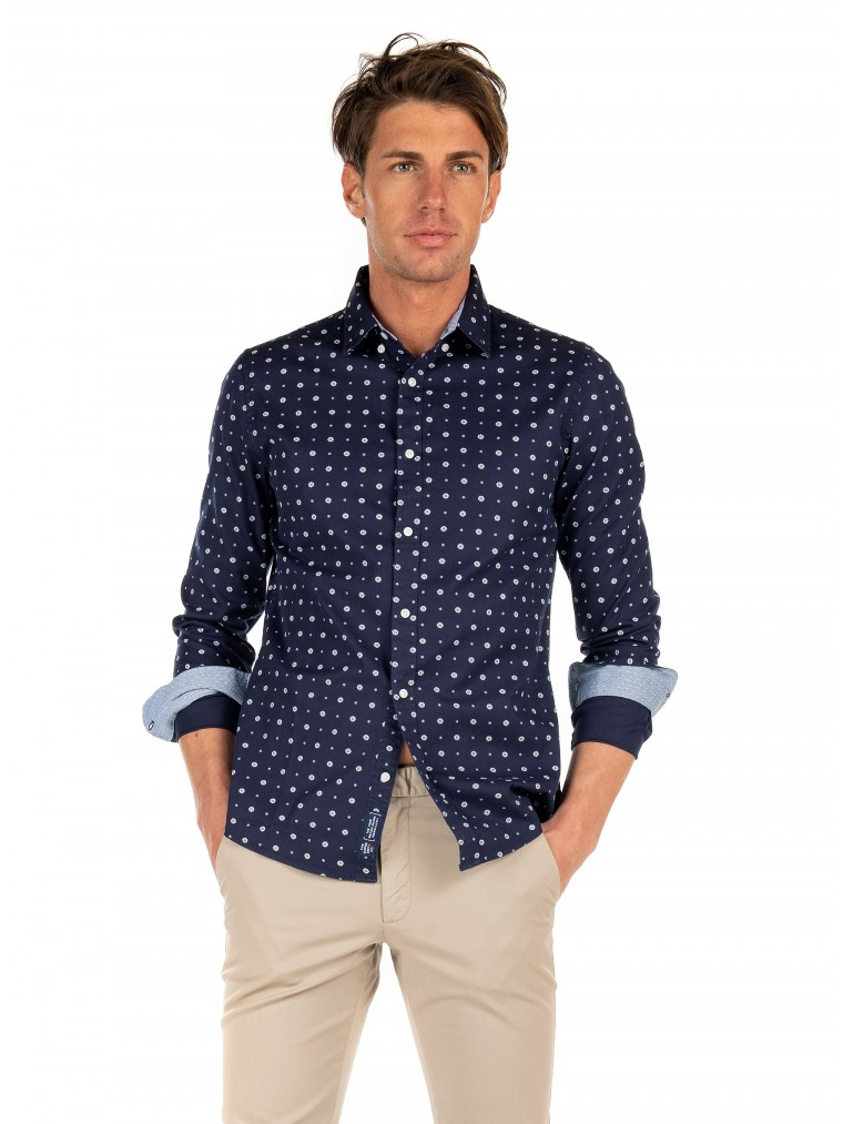 Superdry Classic Shirt Shoreditch Shirt-Blue