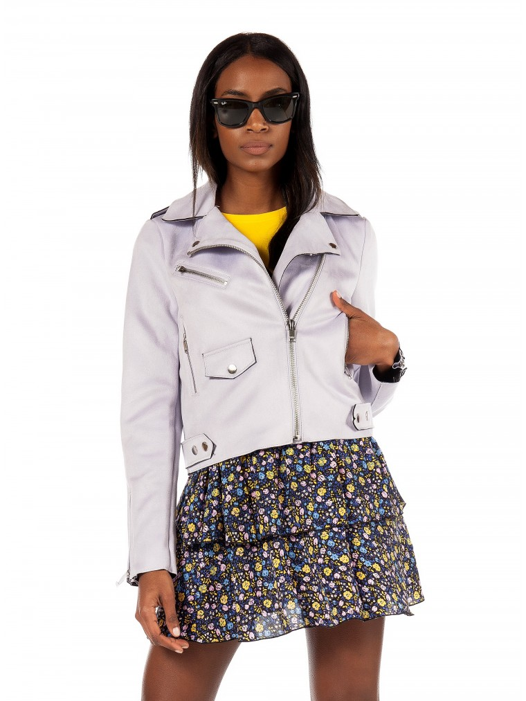 Only Biker Jacket Sherry -Lilac