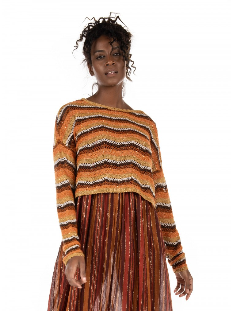 Only Knit Glint-Brown