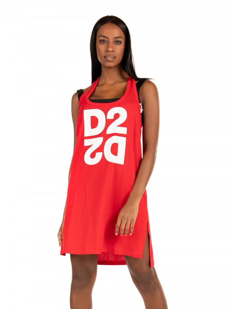 Dsquared Tank Top-Fuchsia