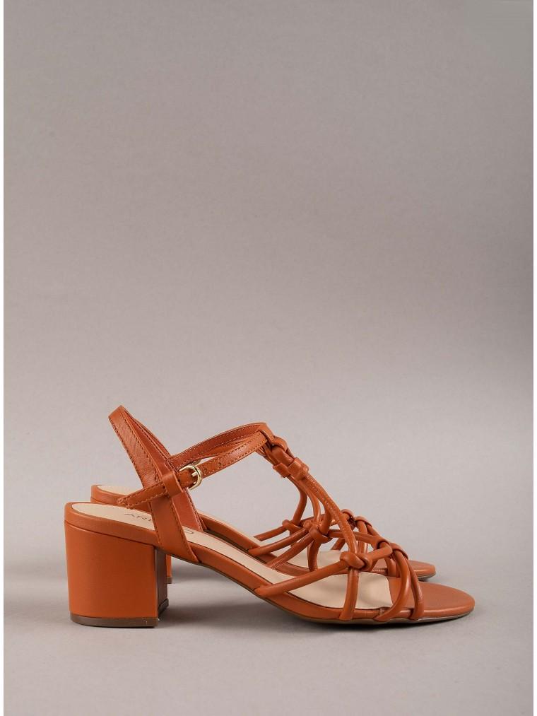 Arezzo Heeled Sandals-Brick Brown