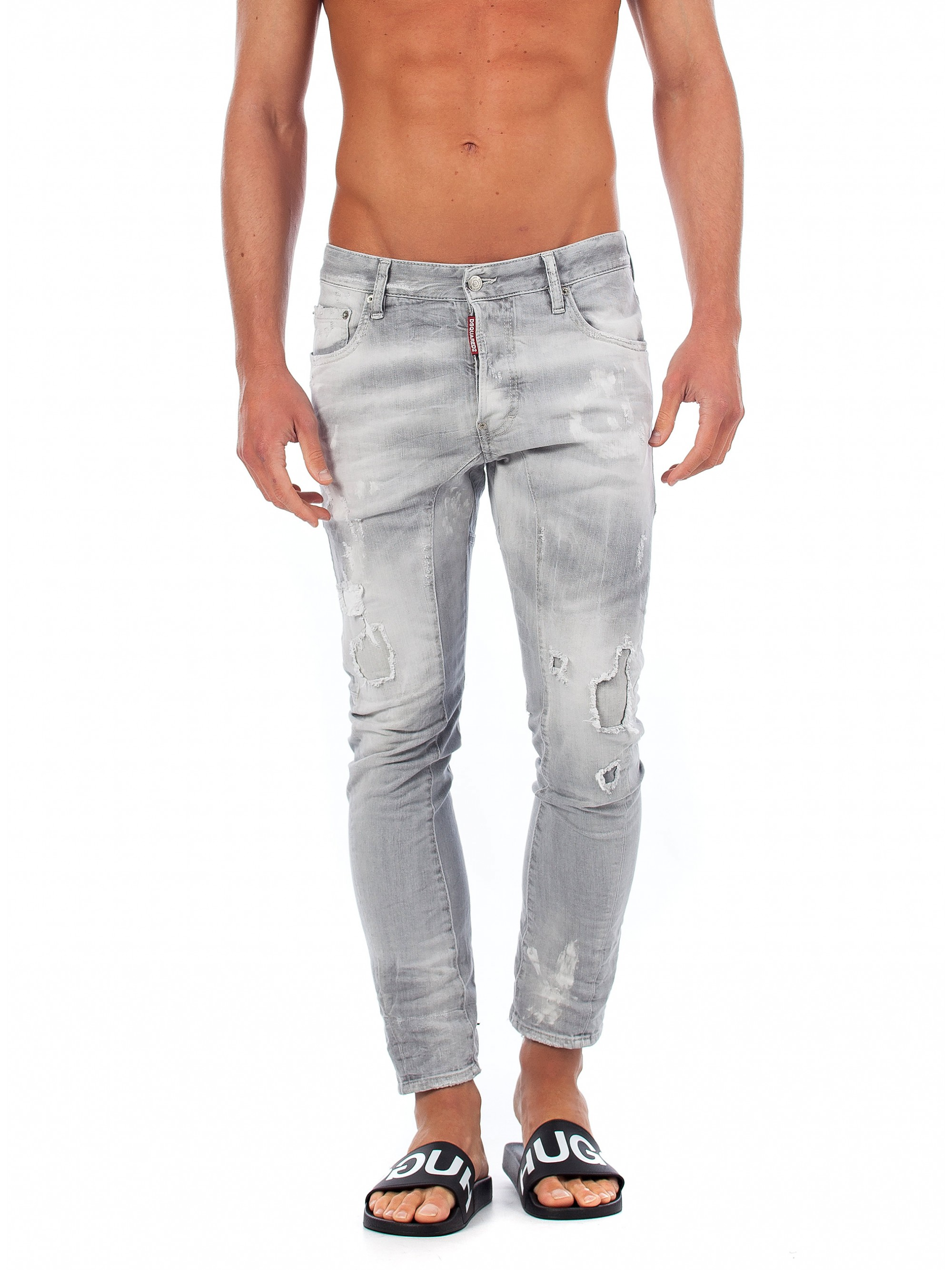 ... Dsquared Jeans Tidy Biker-Light Grey. Click to zoom