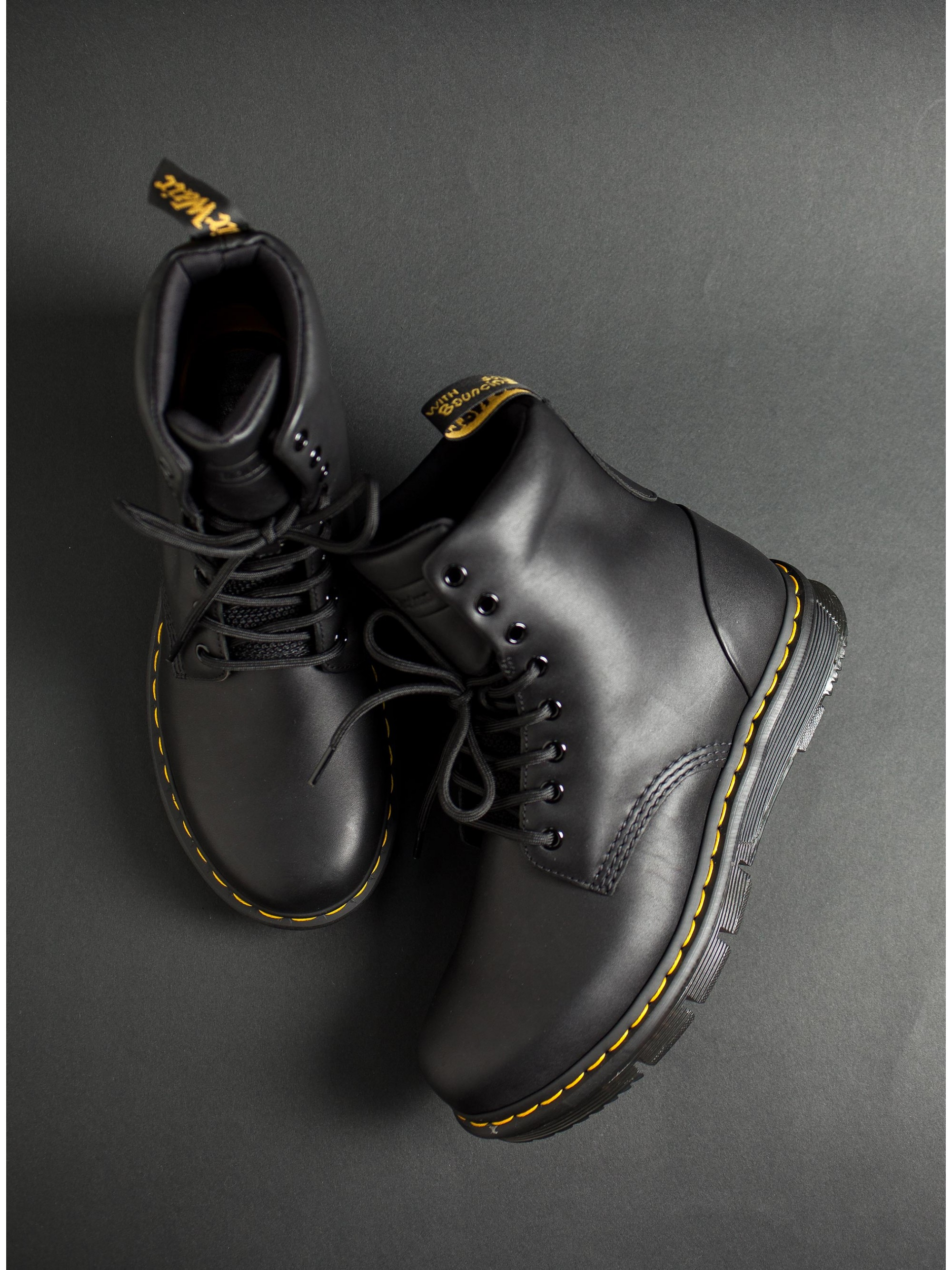 ef8861c65 Dr Martens Lexington 8-Eye Boots-Black