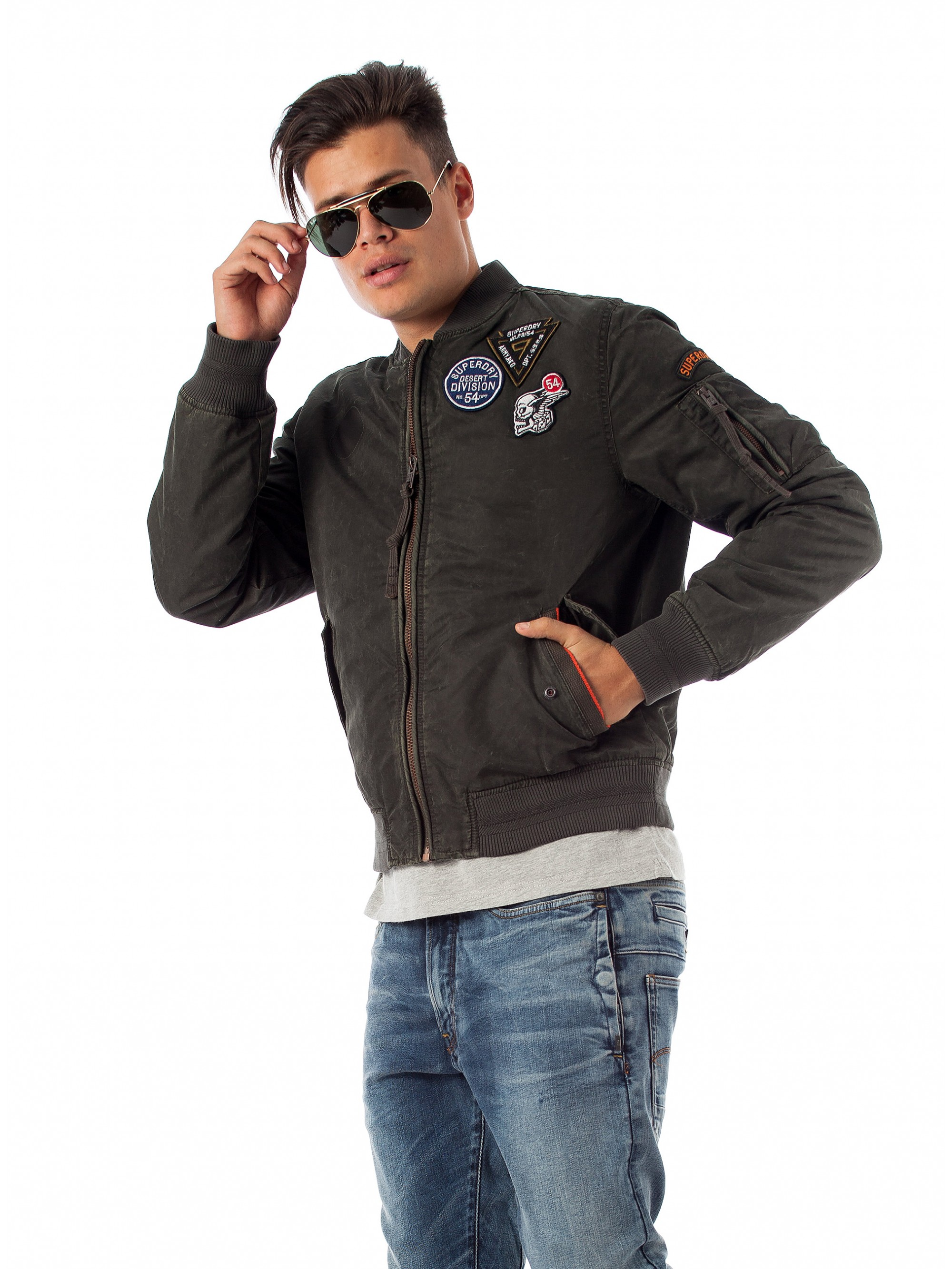 d735e9b88 Superdry Limited Edition Flight Bomber Jacket-Khaki - Jackets & Coats -  Tops - Men