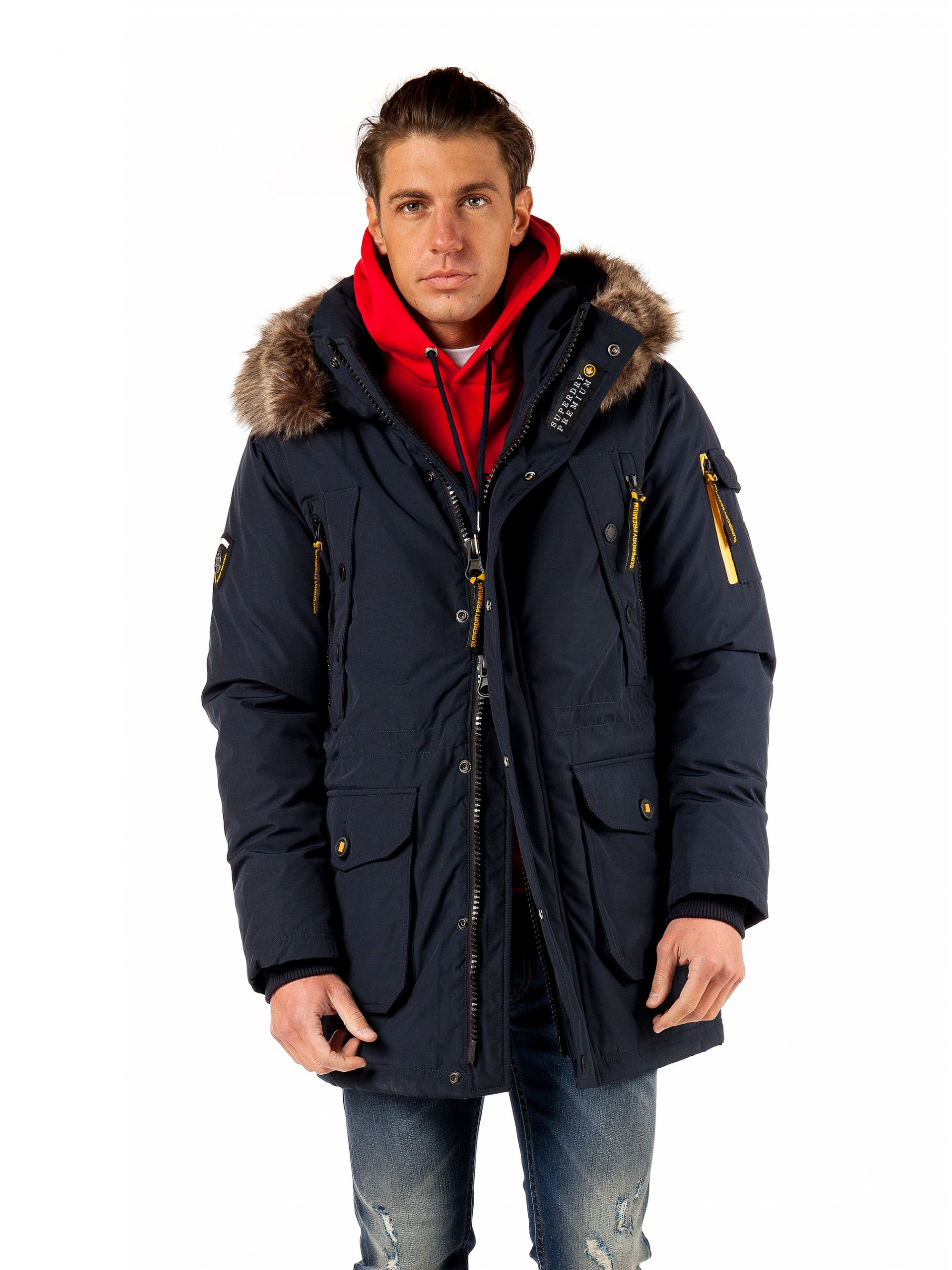 Superdry Premium Ultimate Down Parka Jacket Blue