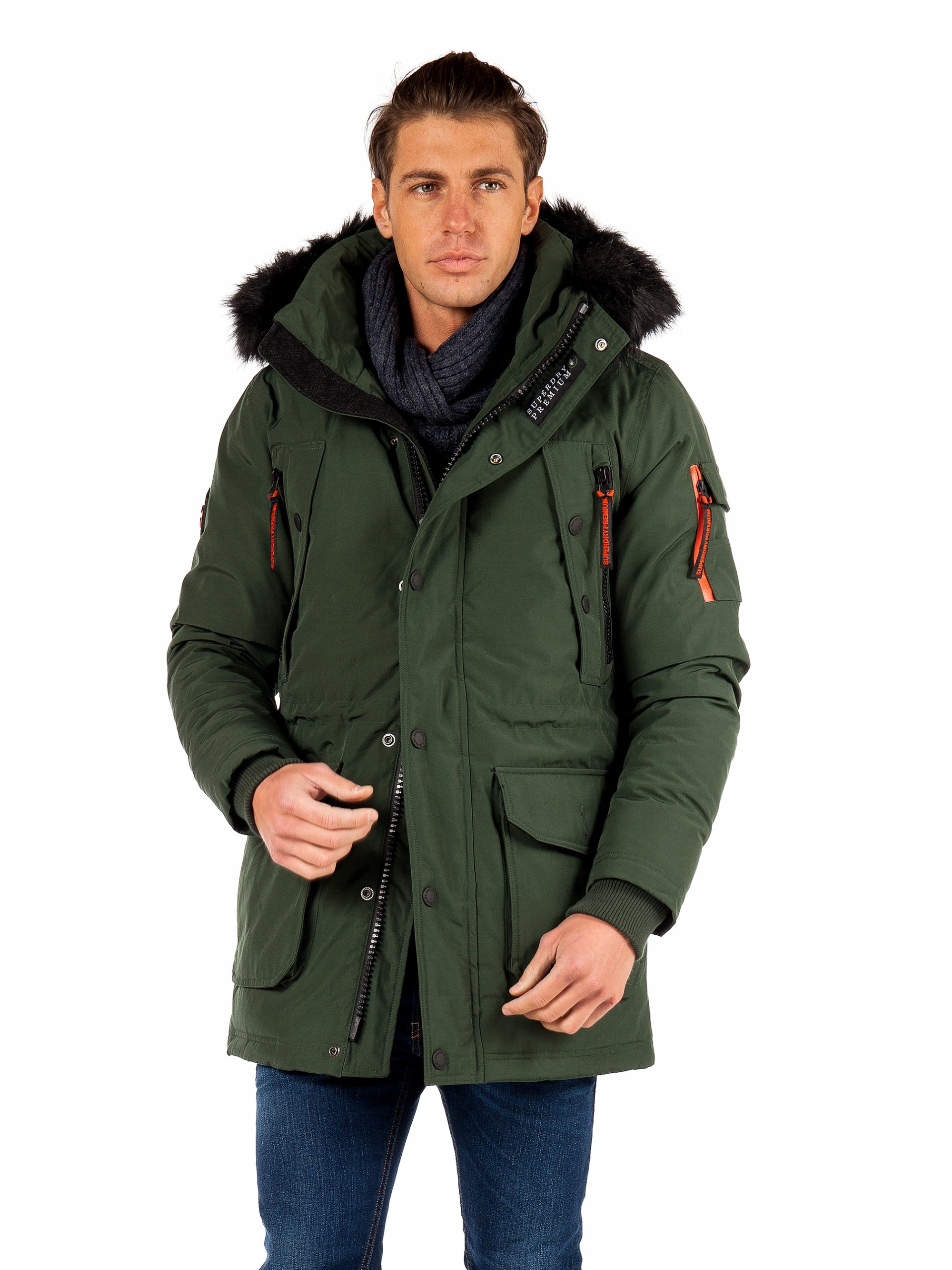 Superdry Premium Ultimate Down Parka Jacket Green
