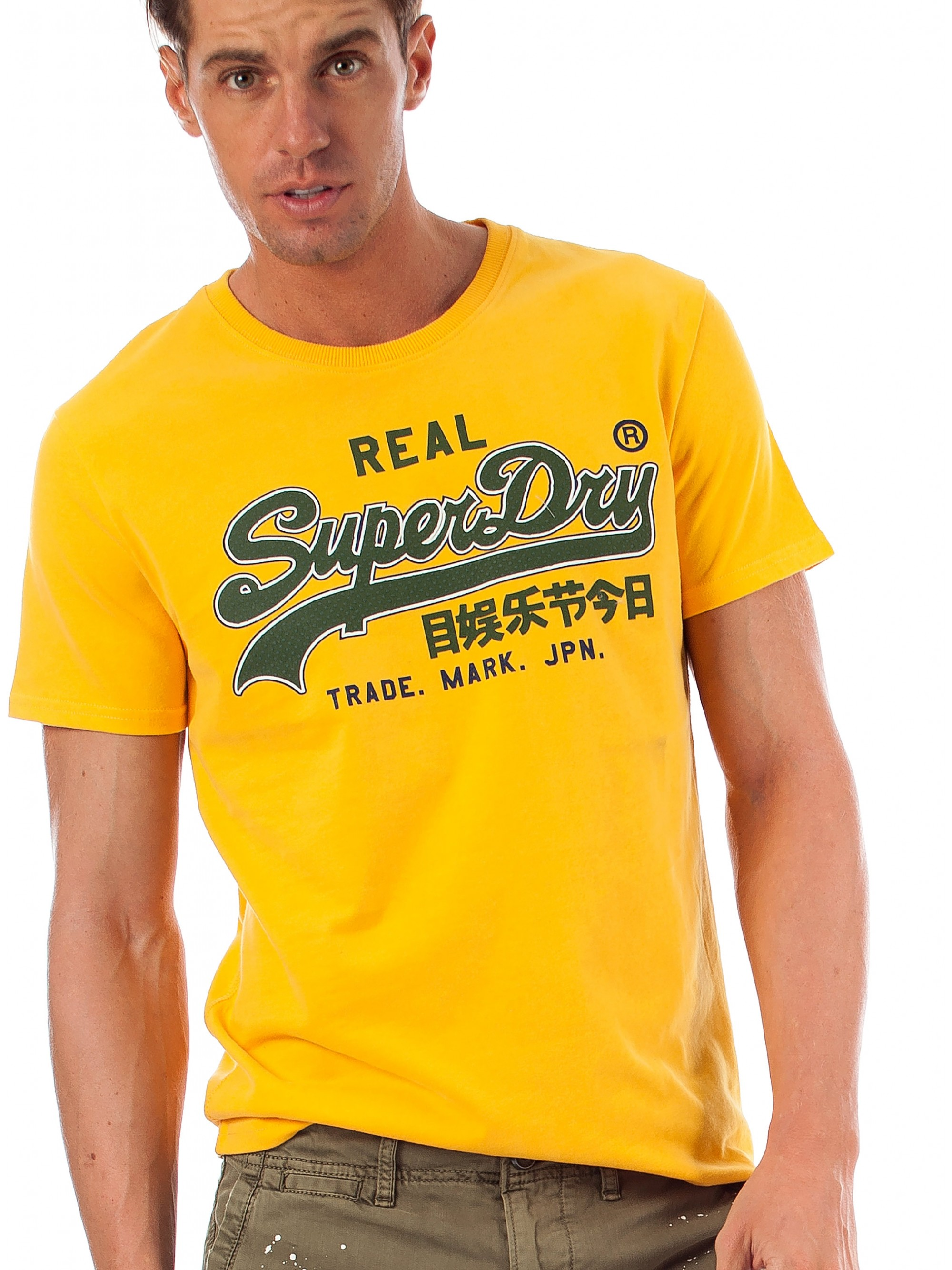 13895668d982f Superdry Vintage Logo Entry T-Shirt-Yellow - Fall-Winter 2018-19