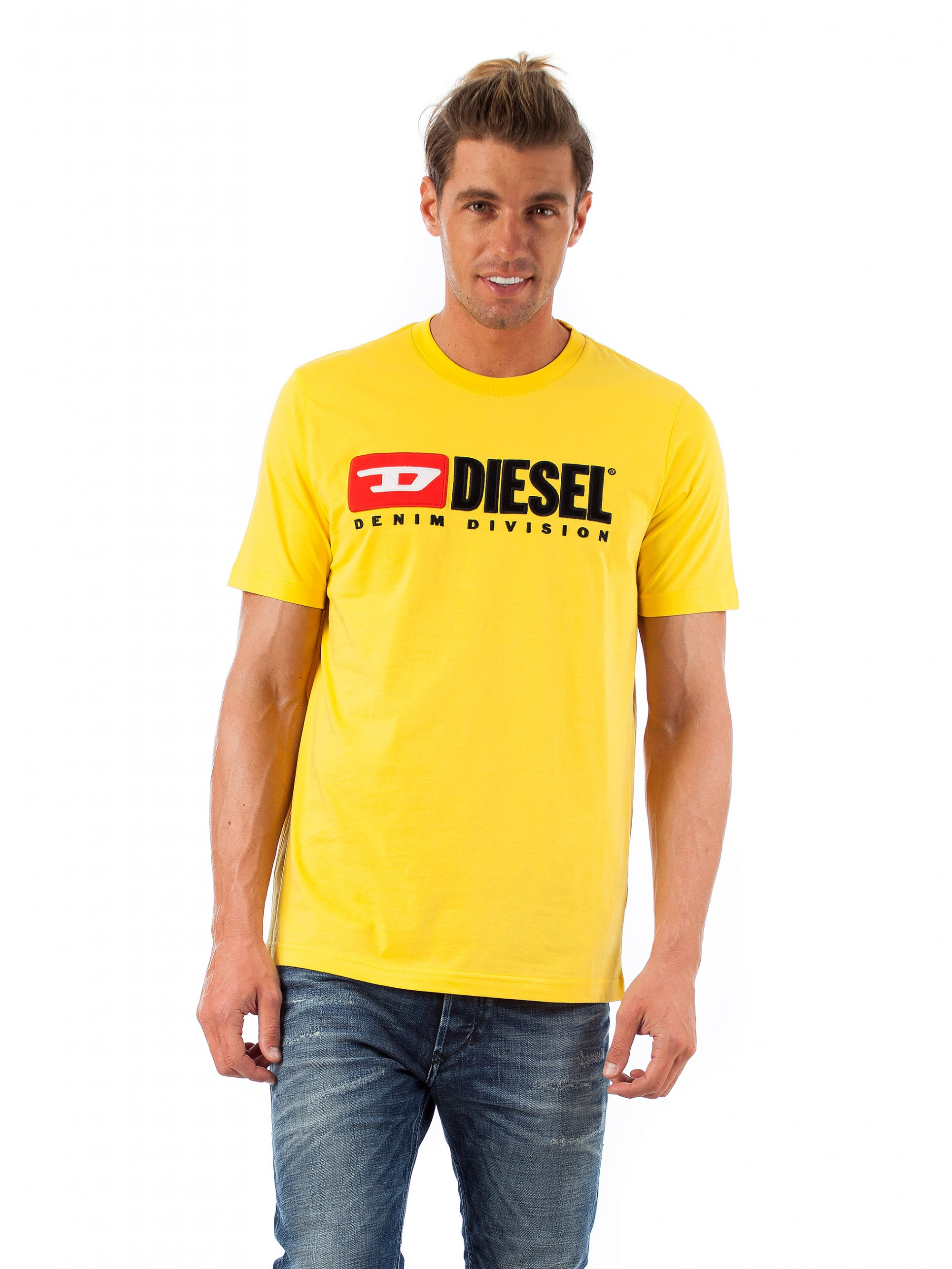 551809f0af964 Diesel T-Shirt T-Just-Division-Yellow - Fall-Winter 2018-19