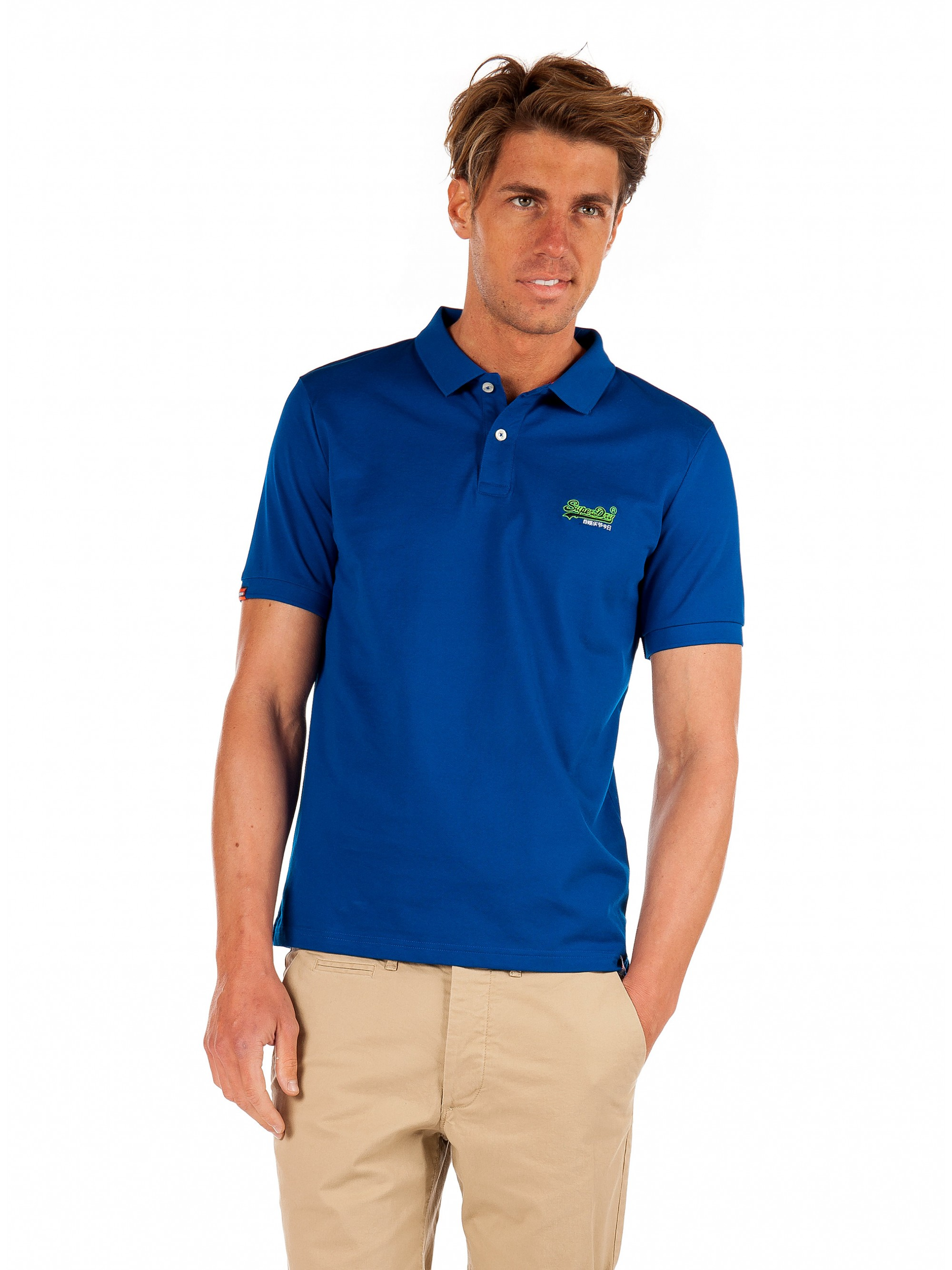 5f640f2633df Home; Superdry Mercerised Lite City Polo Shirt-Royal Blue. Tap to expand