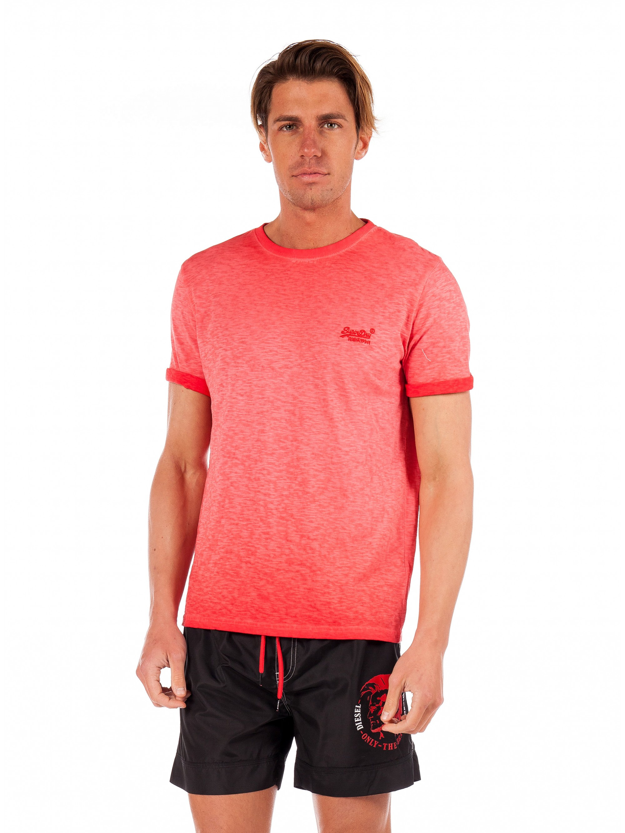 5c6deaea Superdry Low Roller T-Shirt-Red