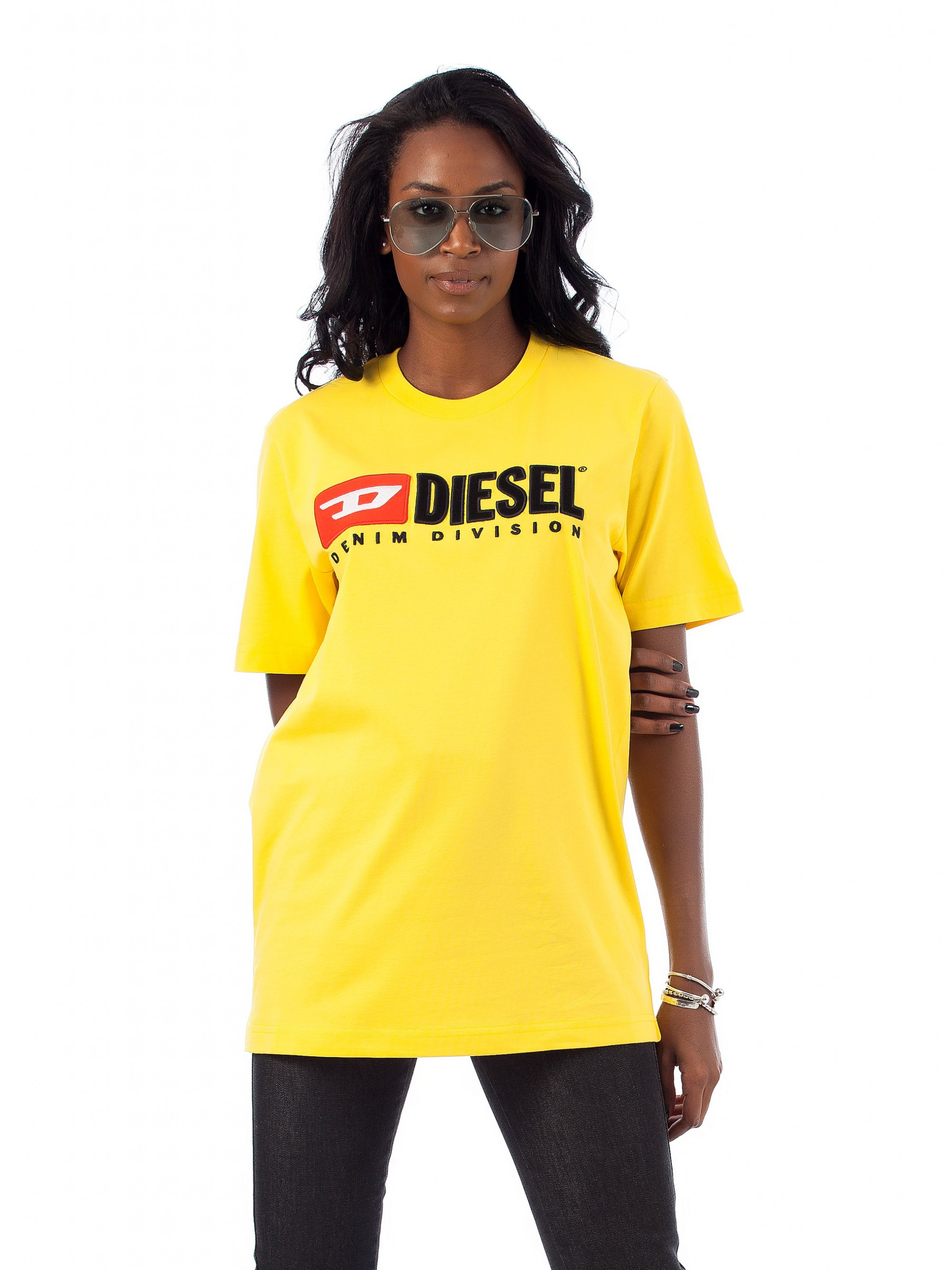 d3345cb98aeac Home · Women · Tops · Blouses   Tops  Diesel T-Shirt T-Just Division-Fl- Yellow. Tap to expand