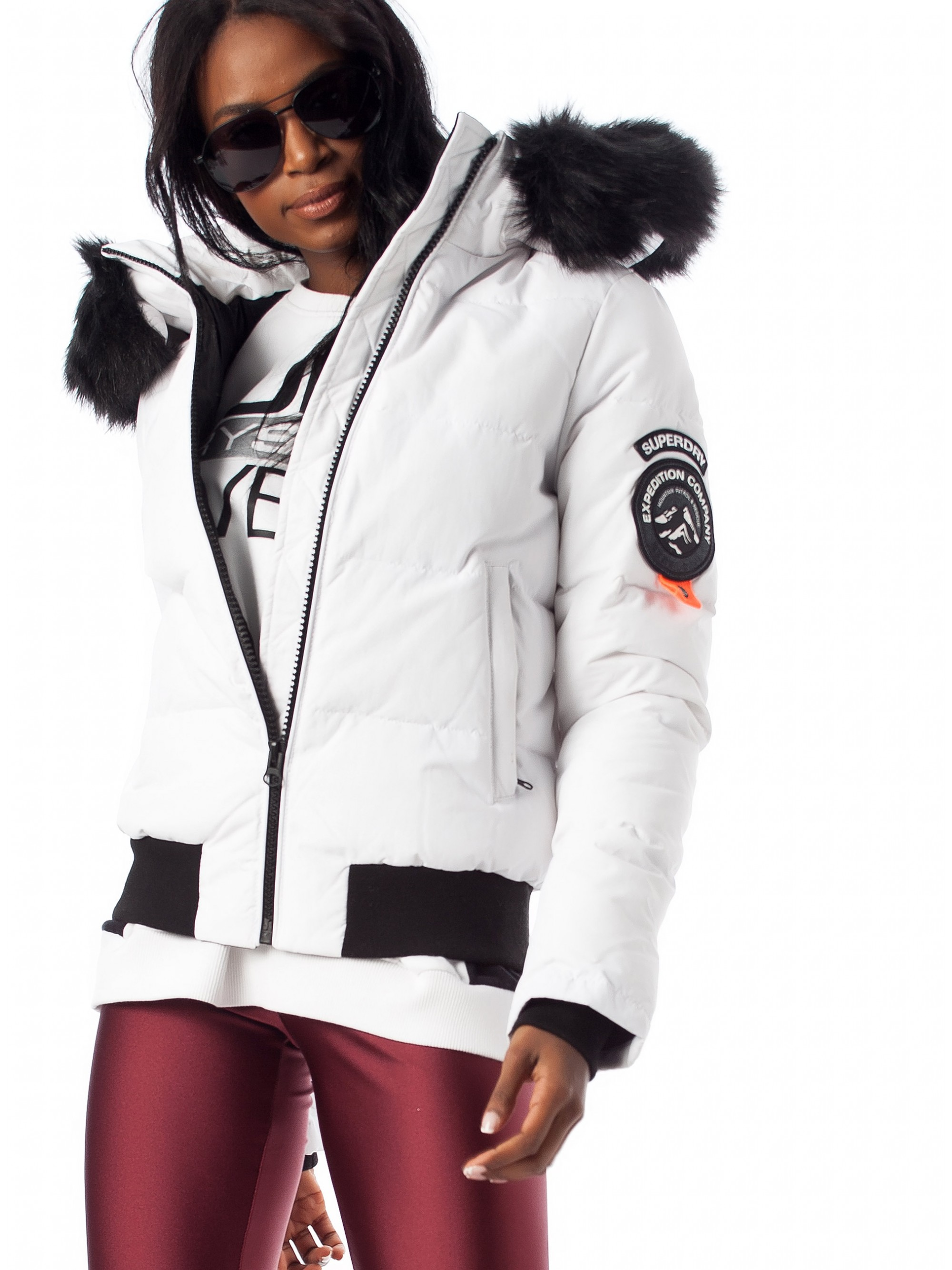 largest selection of super cute high quality Superdry Everest Ella Bomber Jacket-White