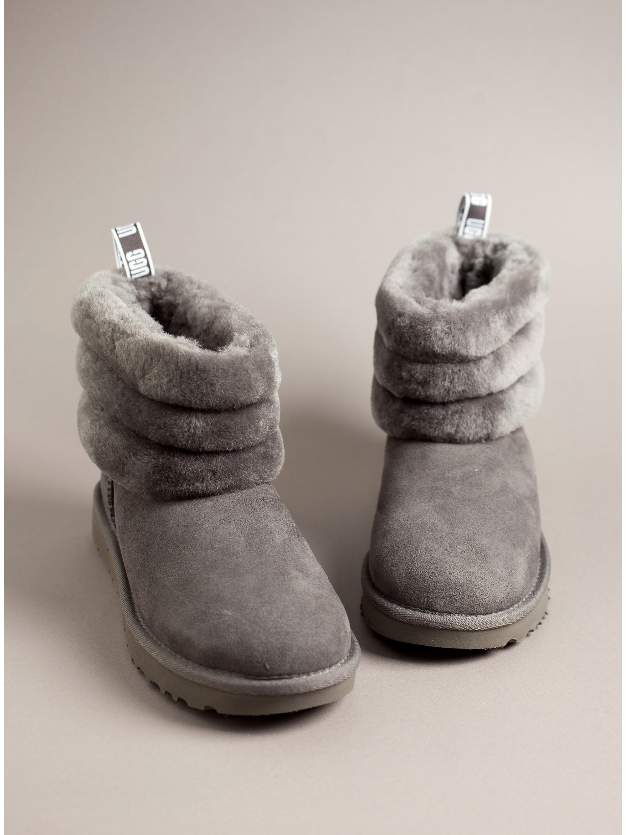 776faae1936 Ugg Australia Ankle Boots Fluff Mini Quilted-Grey - Women
