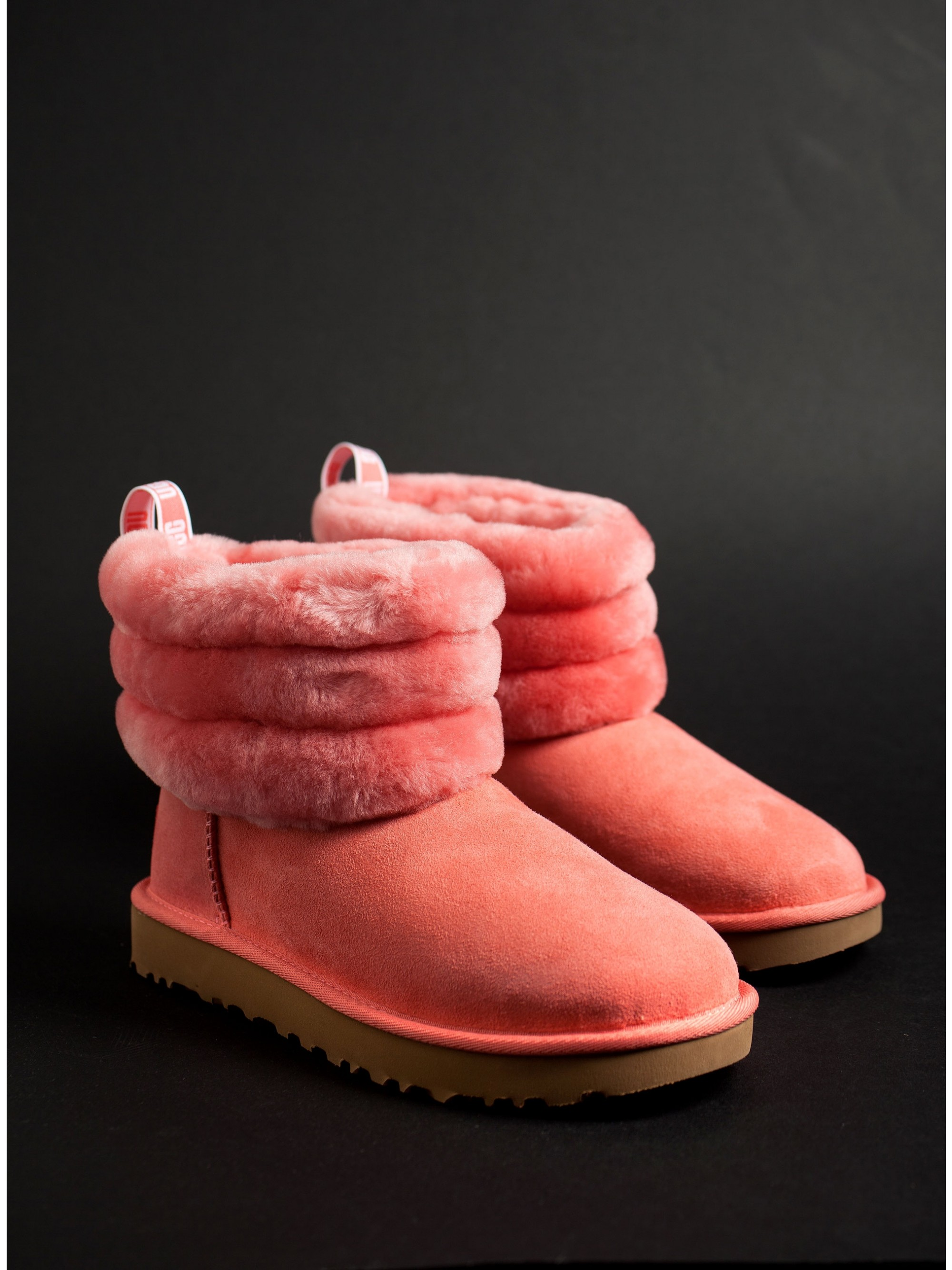 4d74ed50e02 Ugg Australia Ankle Boots Fluff Mini Quilted-Pink - Women