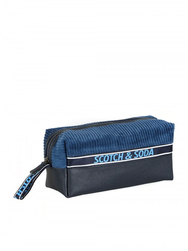 Scotch & Soda Toiletry Bag-Blue