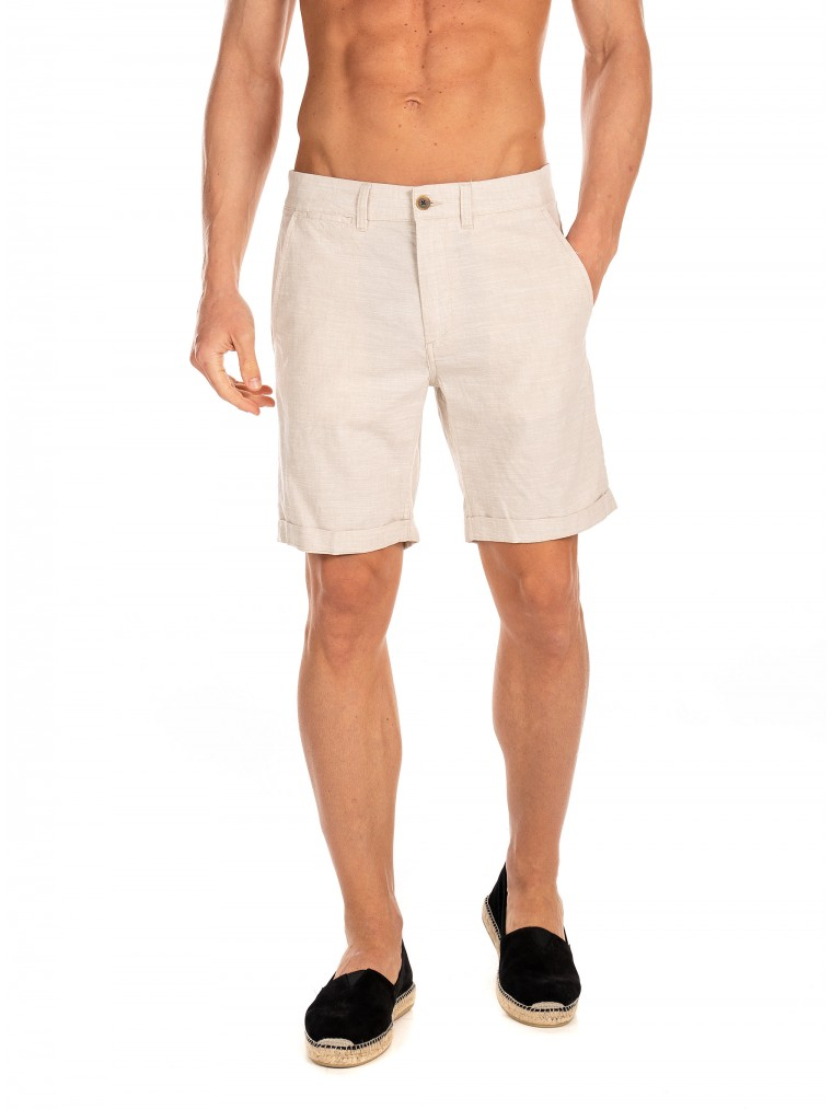 Jack & Jones Linen Chino Shorts -Beige