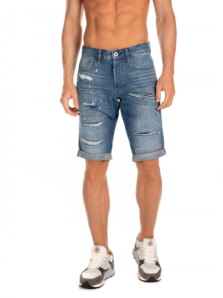 G-Star 3301 Shorts-Dark Aged Denim