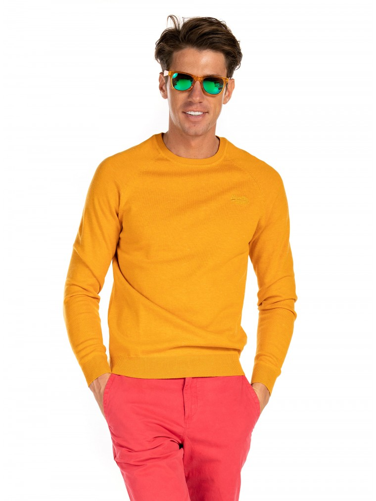 Superdry Orange Label Cotton Crew Knit -Mustard