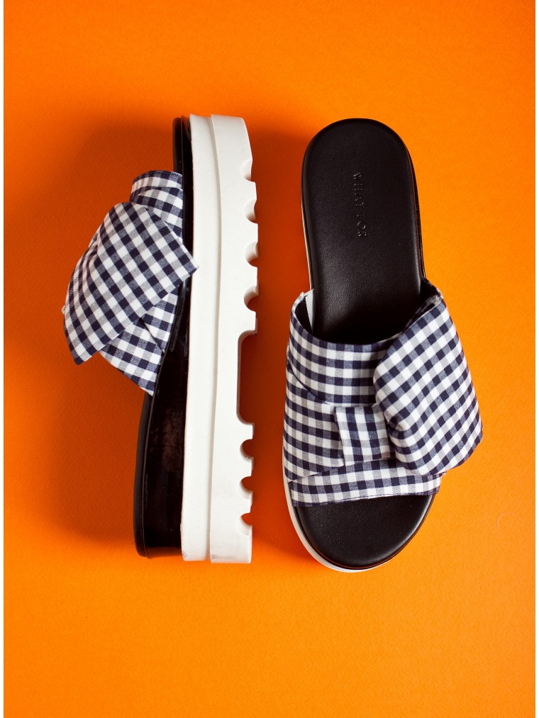 What For Sandals-Tartan