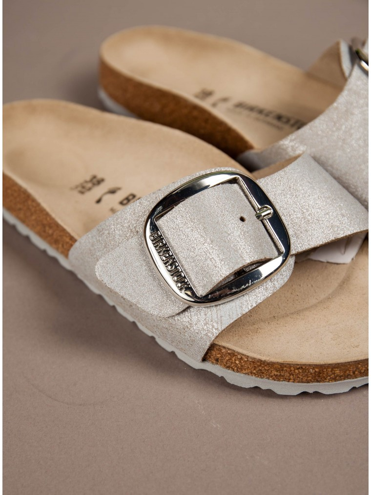 Birkenstock Sandals Madrid Big Buckle-Silver