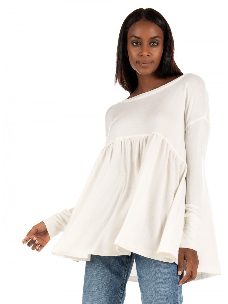 Free People Blouse Forever Your Girl-Off White