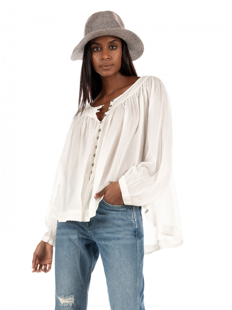 Free People Cool Meadow Top-Off White