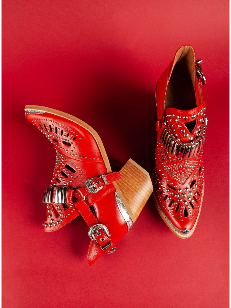 Jeffrey Campbell Ankle Boots Calhoun-4-Red
