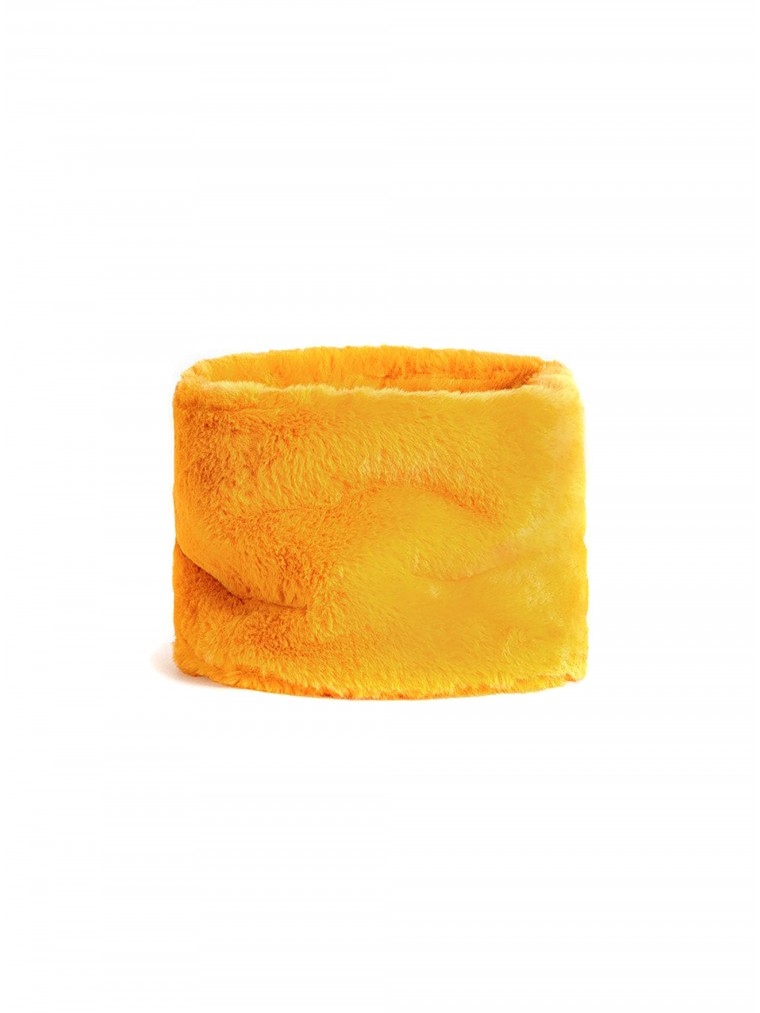 OOF Faux Fur Collar-Mustard