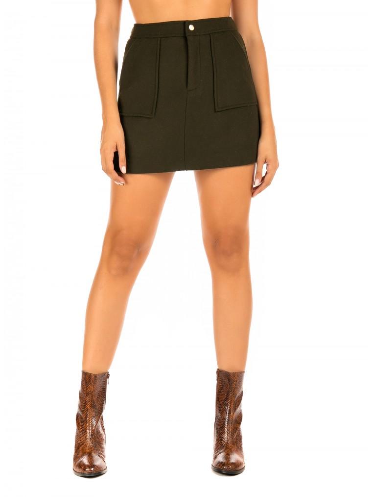 The Korner Skirt-Olive