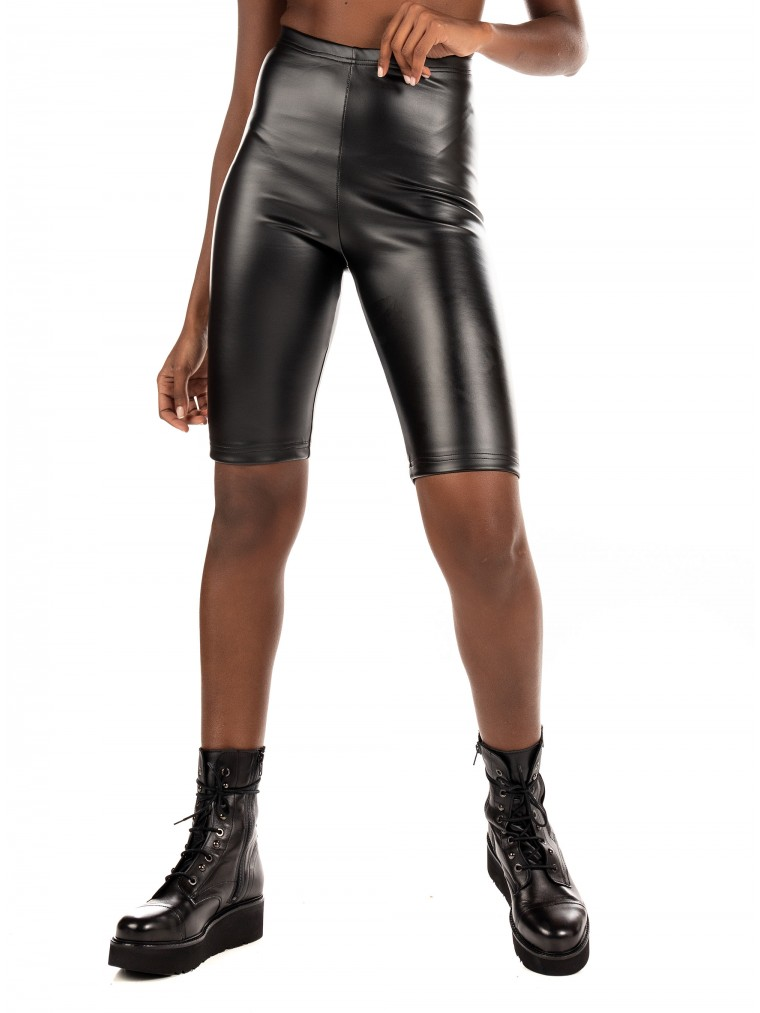 My T Biker Leggins Shorts-Black