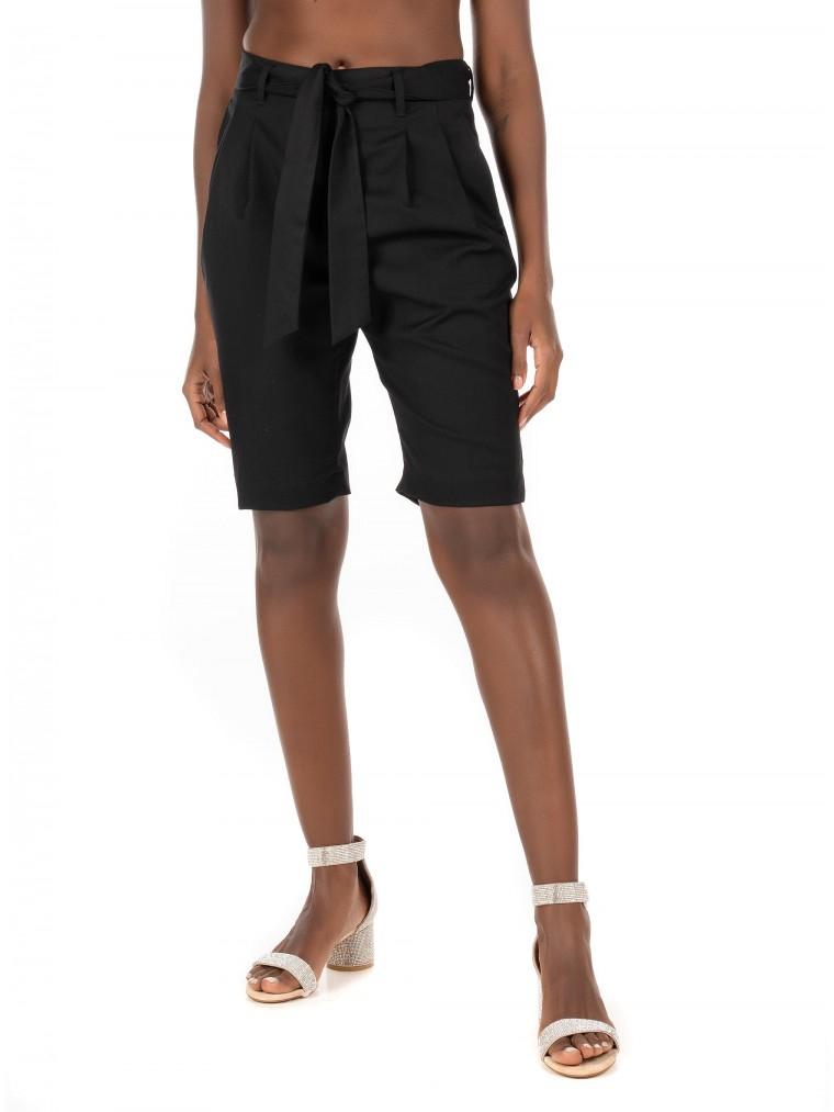 Maison Scotch Pleated Shorts-Black