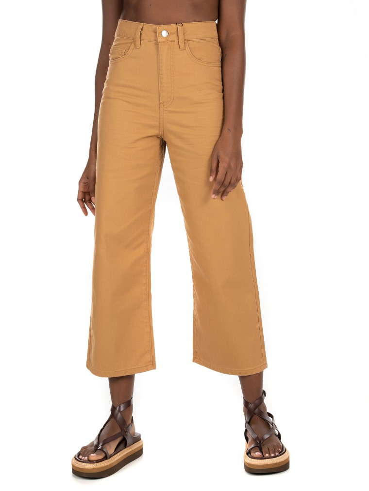 Vero Moda High Waisted Loose Fit Jeans-Rust