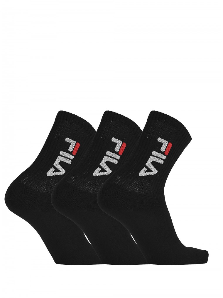 Fila Unique Urban 3 Pack Socks-Black