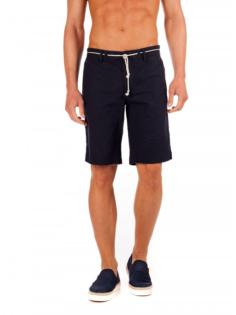 Jack & Jones Linen Chino Shorts-Blue