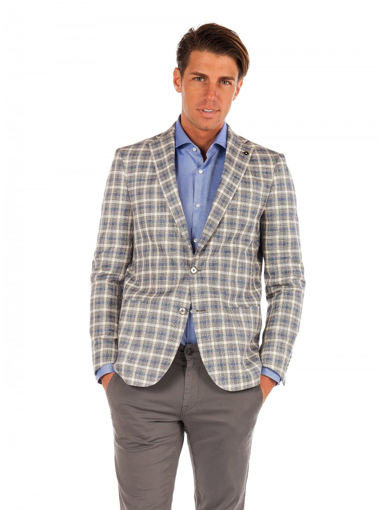 Common Sence By 7 Square Blazer Lipo-Tartan
