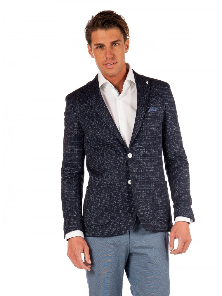 7 Square Blazer Space-Blue