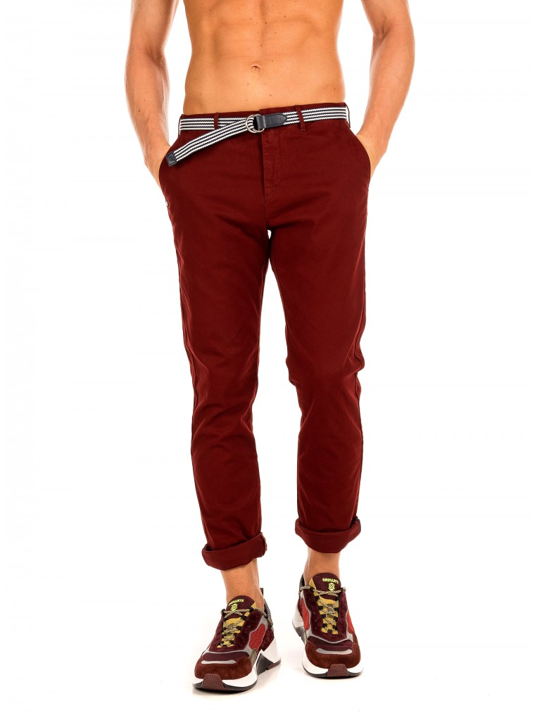 Scotch & Soda Stuart - Peached Chinos-Bordeaux
