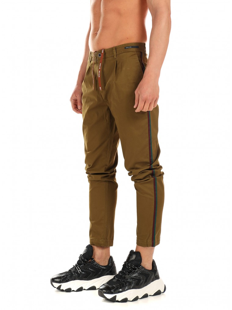Scotch & Soda Pants-Dark Olive Green