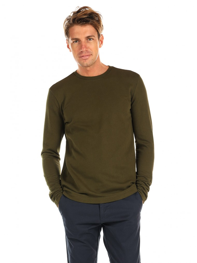 Scotch & Soda Organic Cotton Sweater-Khaki