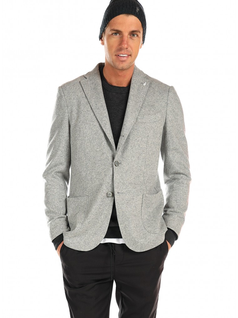 7 Square Blazer Skyfall-J-Light Grey