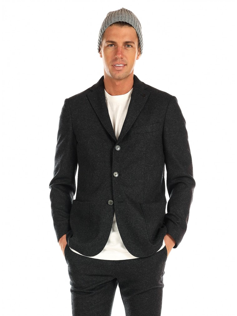 7 Square Blazer Skyfall-J-Dark Grey