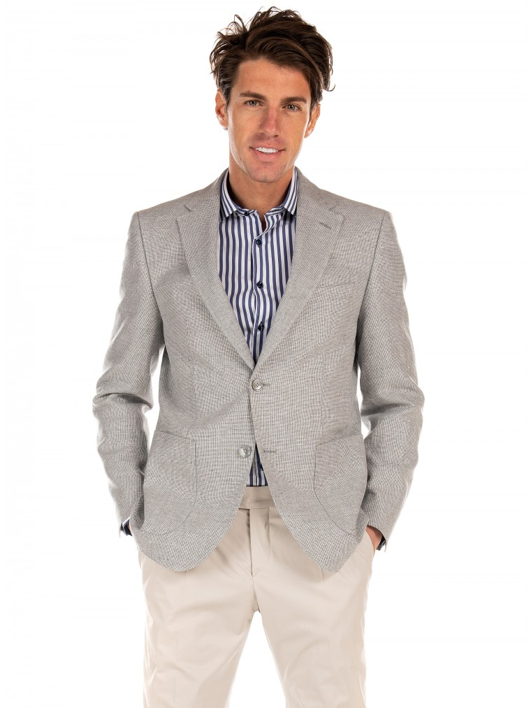 Boss Blazer Janson7-Light Grey