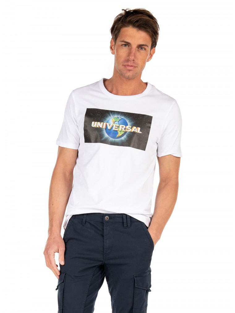 Jack & Jones T-Shirt Universe-White