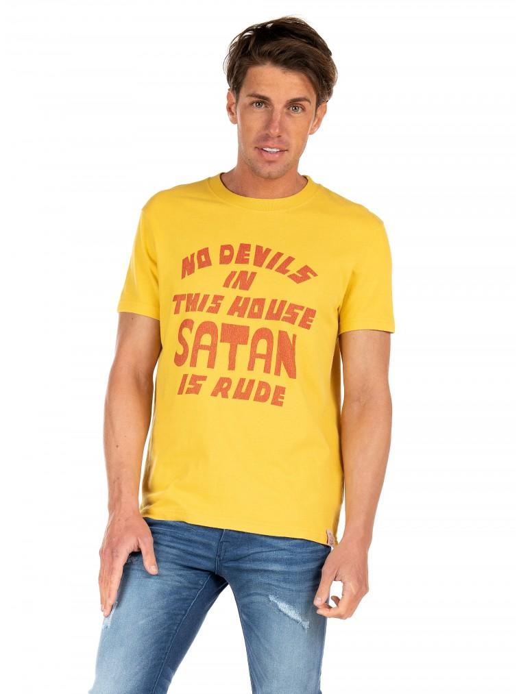 Deus Ex Machina T-Shirt Bad Manners-Yellow