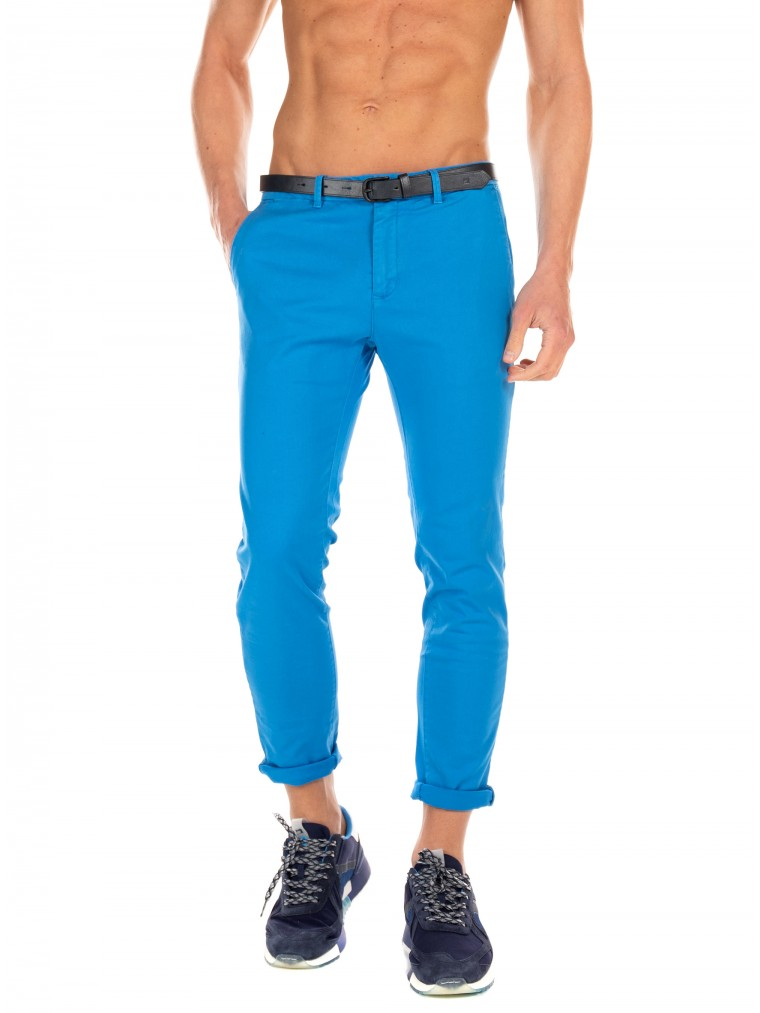 Scotch & Soda Pants Mott-Sky Blue