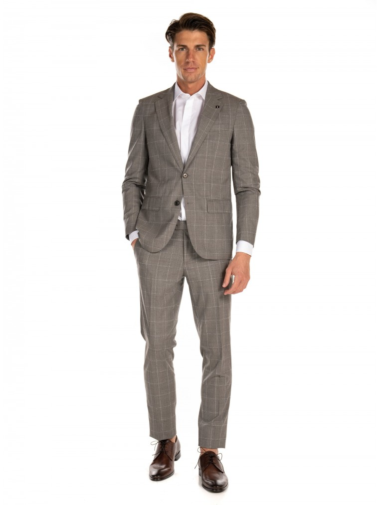 7 Square Suit-Brown