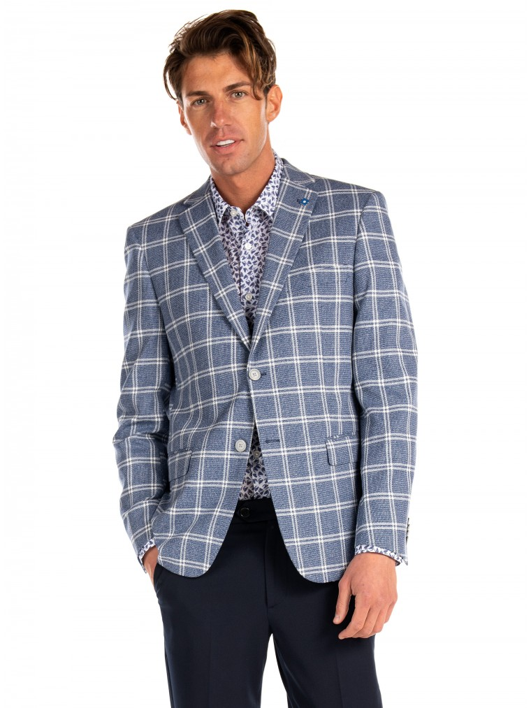 Common Sense By 7 Square Blazer Alabama-Blue