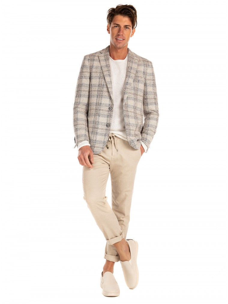 7 Square Blazer Twister-Off White